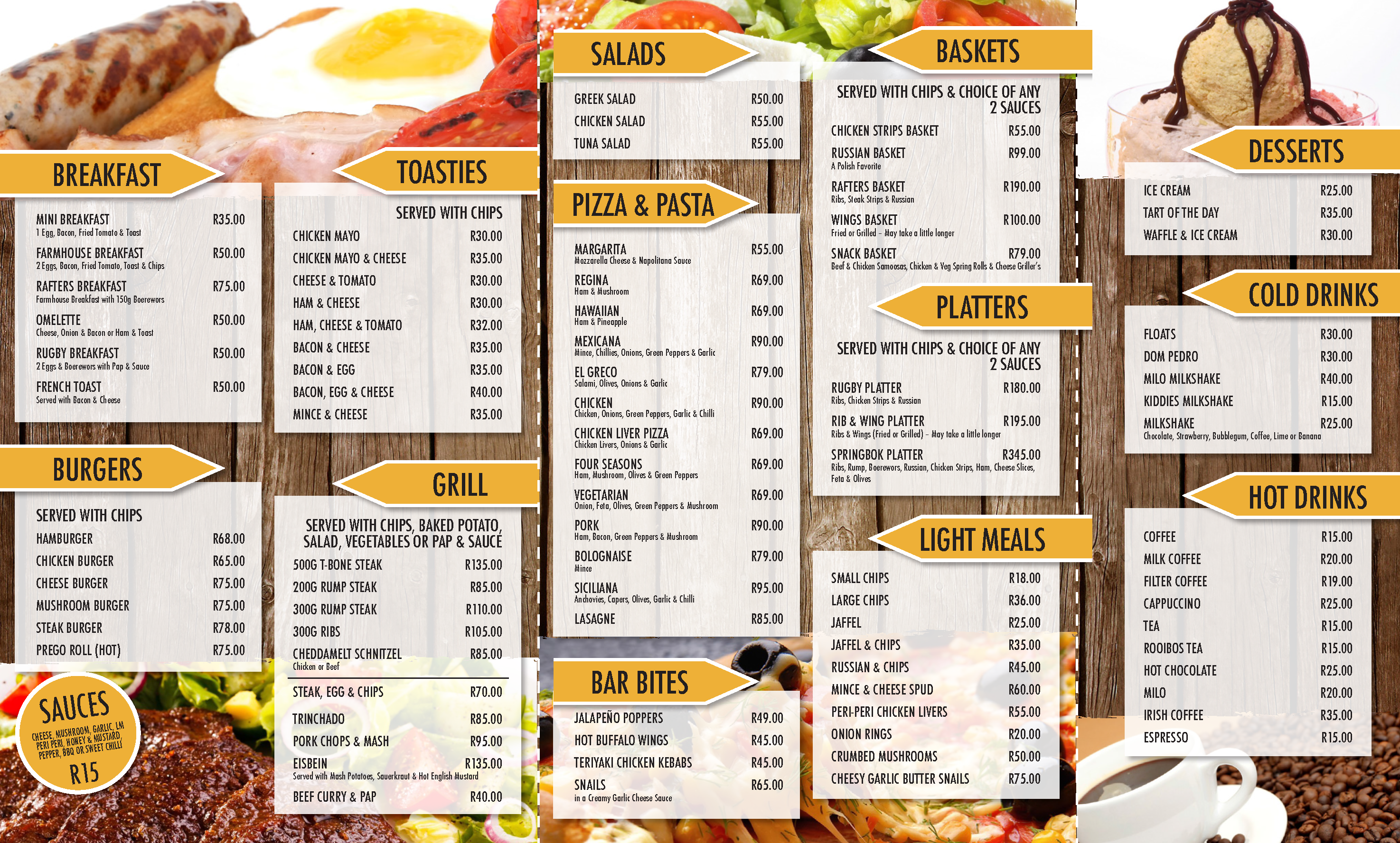 Rafters Menu Rafters Is A Family Restaurant Pub Theatre With – Menu