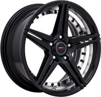 Breaker - Satin Black with undercut - 17 x 7.5
