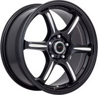 Rap - Satin Black Milled - 18 x 7.5