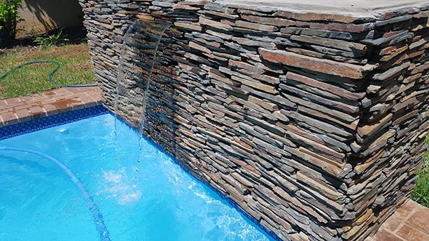 Slate Dry Stack Water Feature