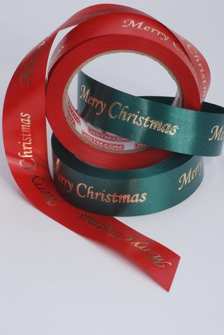 Satin Foil Print Ribbon