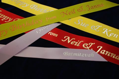 Foil Print Satin Ribbons